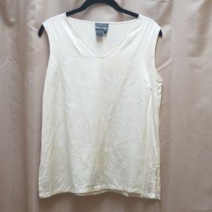 Lafayette 148 Petite Silk Sleeveless Shirt 10